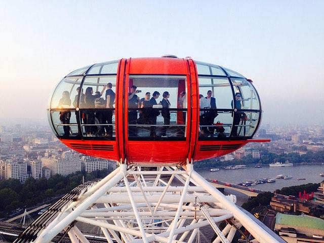 Udsigt fra London Eye i London
